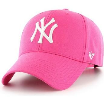 Boné curvo rosa magenta snapback da New York Yankees MLB MVP da 47 Brand