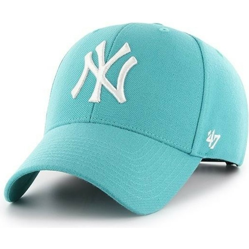 662340962934e Boné curvo verde turquesa snapback da New York Yankees MLB MVP da 47 ...