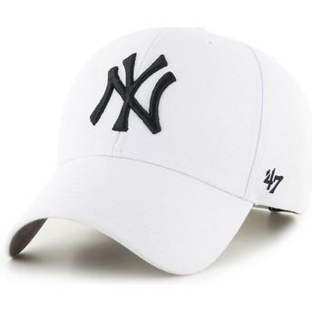 Boné curvo branco snapback da New York Yankees MLB MVP da 47 Brand
