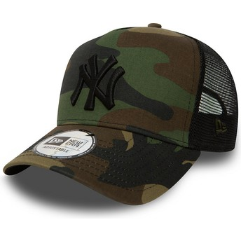 Boné trucker camuflagem Clean A Frame da New York Yankees MLB da New Era