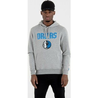 Moletom com capuz cinza Pullover Hoody da Dallas Mavericks NBA da New Era