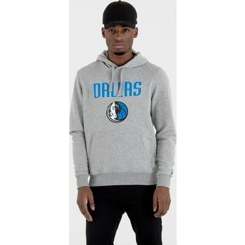 Moletom com capuz cinza Pullover Hoody da Dallas Mavericks NBA da New Era
