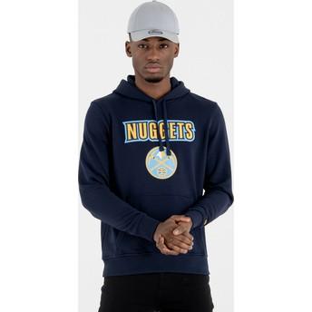 Moletom com capuz azul marinho Pullover Hoody da Denver Nuggets NBA da New Era