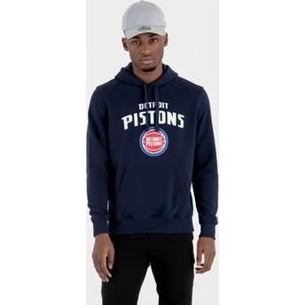 Moletom com capuz azul marinho Pullover Hoody da Detroit Pistons NBA da New Era
