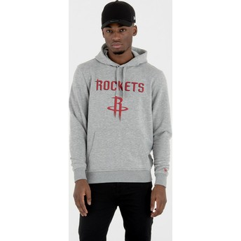 Moletom com capuz cinza Pullover Hoody da Houston Rockets NBA da New Era