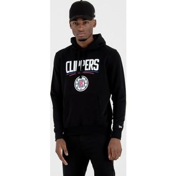 Moletom com capuz preto Pullover Hoody da Los Angeles Clippers NBA da New Era