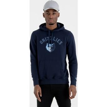 Moletom com capuz azul marinho Pullover Hoody da Memphis Grizzlies NBA da New Era