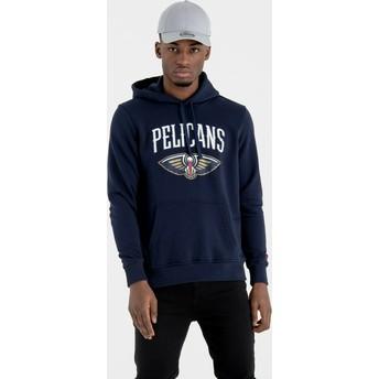 Moletom com capuz azul marinho Pullover Hoody da New Orleans Pelicans NBA da New Era