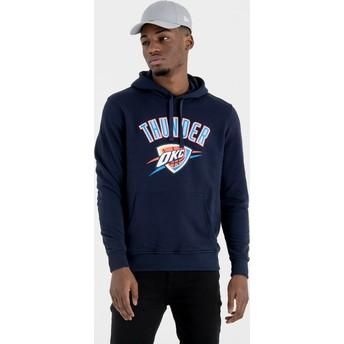 Moletom com capuz azul marinho Pullover Hoody da Oklahoma City Thunder NBA da New Era