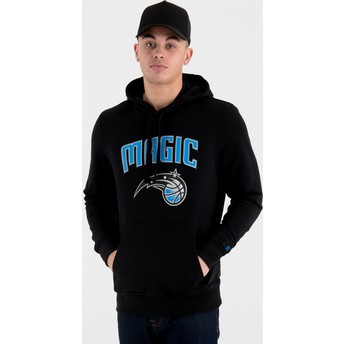 Moletom com capuz preto Pullover Hoody da Orlando Magic NBA da New Era