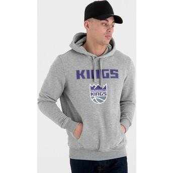 Moletom com capuz cinza Pullover Hoody da Sacramento Kings NBA da New Era