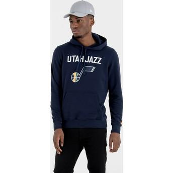Moletom com capuz azul marinho Pullover Hoody da Utah Jazz NBA da New Era