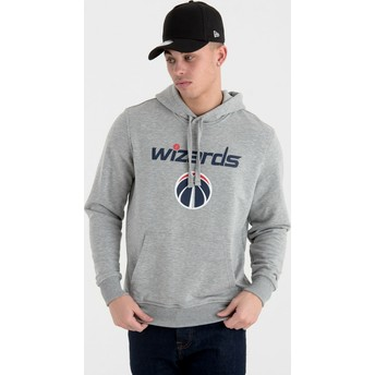 Moletom com capuz cinza Pullover Hoody da Washington Wizards NBA da New Era