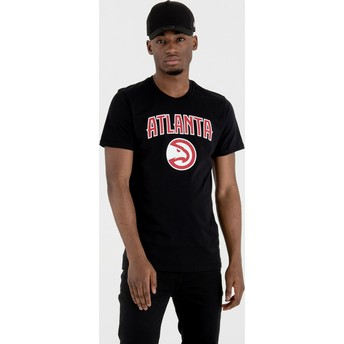 Camiseta de manga curta preto da Atlanta Hawks NBA da New Era