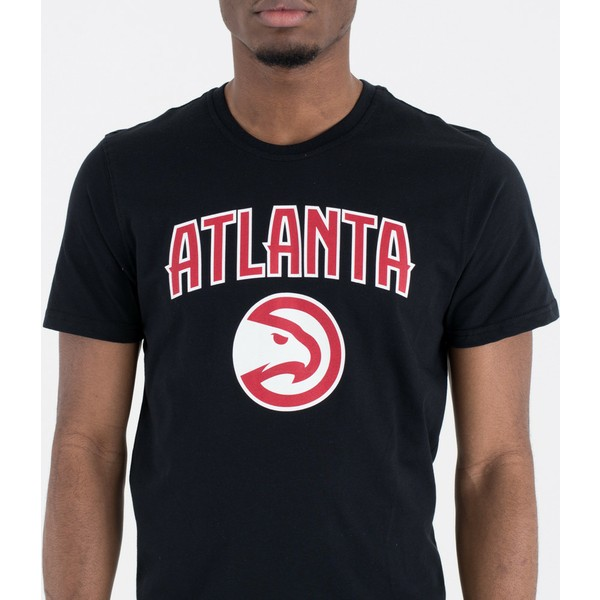 Camiseta de manga curta preto da Atlanta Hawks NBA da New Era ... 575f24bb41312