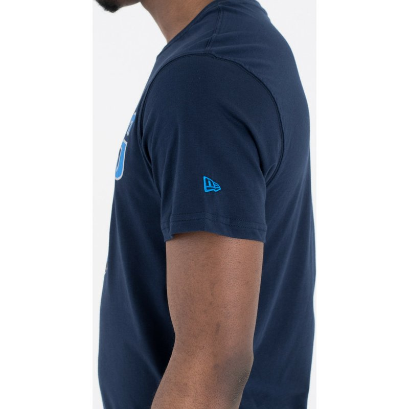 Camiseta de manga curta azul marinho da Dallas Mavericks NBA da New ... 92d78b8aaef17