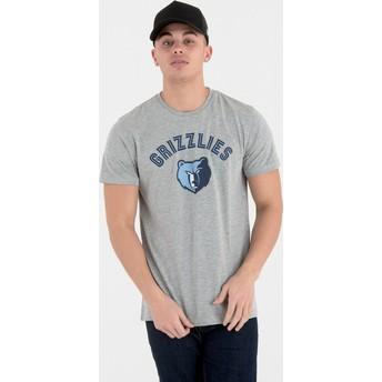 Camiseta de manga curta cinza da Memphis Grizzlies NBA da New Era