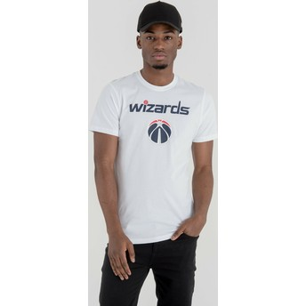 Camiseta de manga curta branco da Washington Wizards NBA da New Era