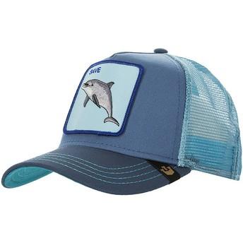 Boné trucker azul golfinho Save Us da Goorin Bros.