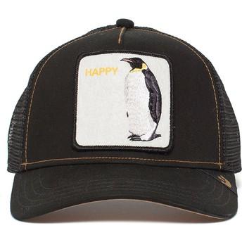 Boné trucker preto pinguim Waddler da Goorin Bros.