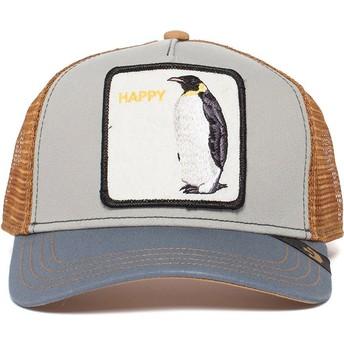 Boné trucker cinza pinguim Waddler da Goorin Bros.