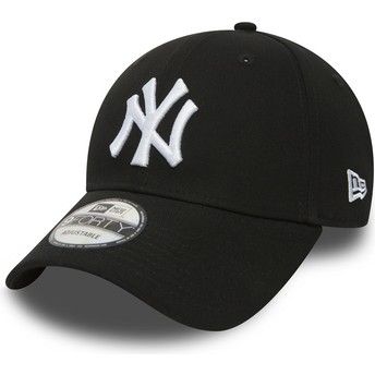 Boné curvo preto ajustável 9FORTY Essential da New York Yankees MLB da New Era