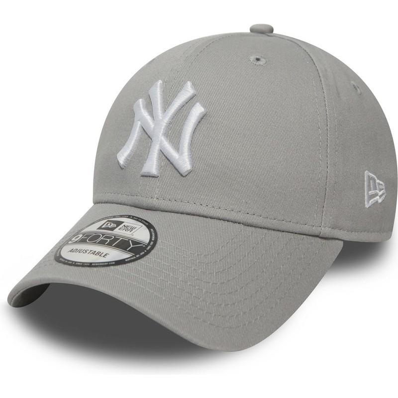 Boné curvo cinza ajustável 9FORTY Essential da New York Yankees MLB ... 3136cb348a5