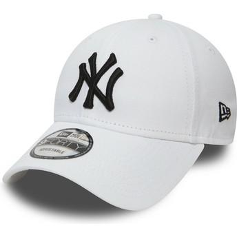 Boné curvo branco ajustável 9FORTY Essential da New York Yankees MLB da New Era