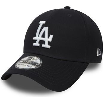 Boné curvo azul marinho justo 39THIRTY Classic da Los Angeles Dodgers MLB da New Era