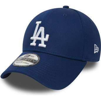 Boné curvo azul justo 39THIRTY Essential da Los Angeles Dodgers MLB da New Era