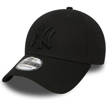Boné curvo preto justo com logo preto 39THIRTY Classic da New York Yankees MLB da New Era