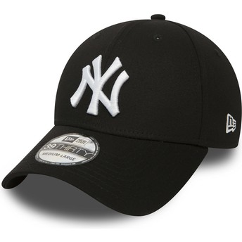 Boné curvo preto justo 39THIRTY Classic da New York Yankees MLB da New Era
