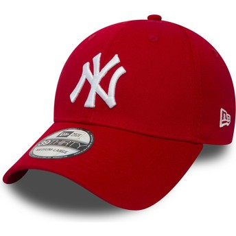 Boné curvo vermelho justo 39THIRTY Classic da New York Yankees MLB da New Era