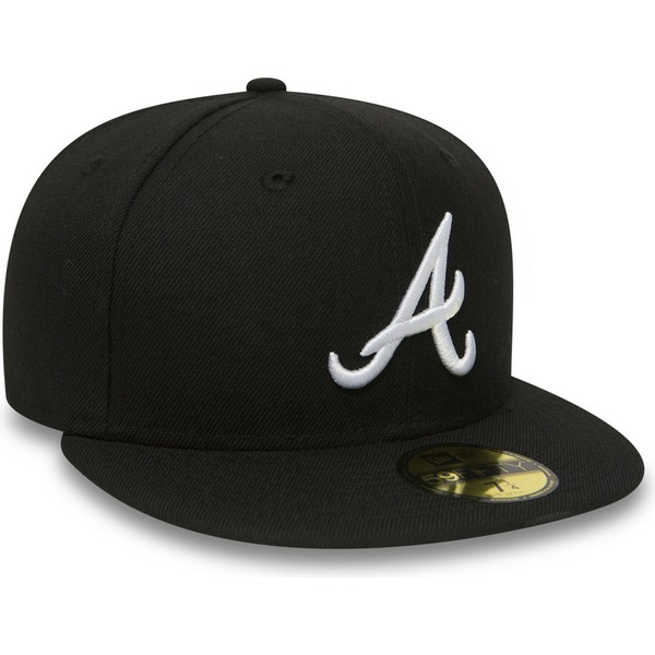 bone-plano-preto-justo-59fifty-essential-da-atlanta-braves-mlb-da-new-era