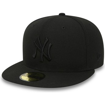 Boné plano preto justo 59FIFTY Black on Black da New York Yankees MLB da New Era