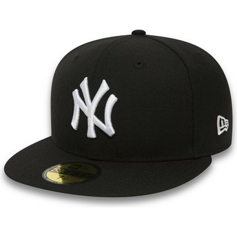 Boné plano preto justo 59FIFTY Essential da New York Yankees MLB da New Era