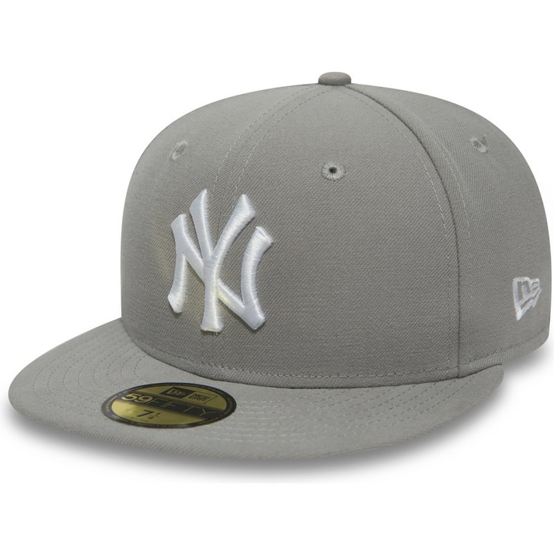 bone-plano-cinza-justo-com-logo-branco-59fifty-essential-da-new-york-yankees-mlb-da-new-era