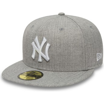 Boné plano cinza justo 59FIFTY Essential da New York Yankees MLB da New Era