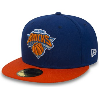 Boné plano azul justo 59FIFTY Essential da New York Knicks NBA da New Era