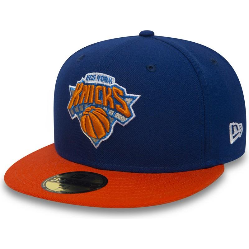 4a4f54713 Boné plano azul justo 59FIFTY Essential da New York Knicks NBA da ...
