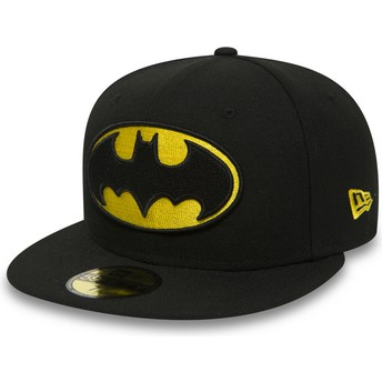 Boné plano preto justo 59FIFTY Batman Character Essential Warner Bros. da New Era