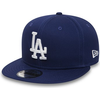 Boné plano azul snapback 9FIFTY Essential da Los Angeles Dodgers MLB da New Era