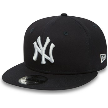 Boné plano azul marinho snapback 9FIFTY Essential da New York Yankees MLB da New Era