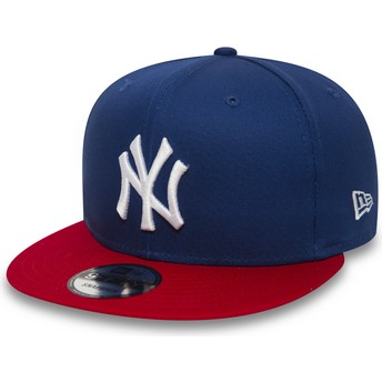 Boné plano azul snapback 9FIFTY Cotton Block da New York Yankees MLB da New Era