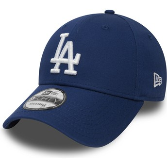 Boné curvo azul ajustável 9FORTY Essential da Los Angeles Dodgers MLB da New Era