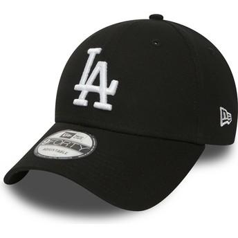 Boné curvo preto ajustável 9FORTY Essential da Los Angeles Dodgers MLB da New Era