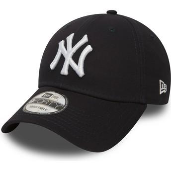 Boné curvo azul marinho ajustável 9FORTY Essential da New York Yankees MLB da New Era