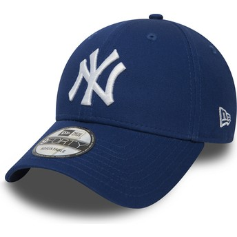 Boné curvo azul ajustável 9FORTY Essential da New York Yankees MLB da New Era