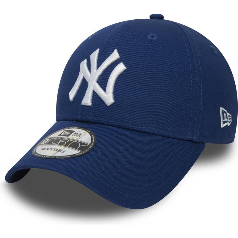 b97c5abdda3e0 Boné curvo azul ajustável 9FORTY Essential da New York Yankees MLB ...