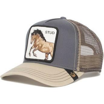 Boné trucker cinza cavalo You Stud da Goorin Bros.